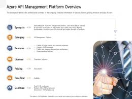 Application Programming Interfaces Overview Azure API Management Platform Overview Ppt Powerpoint Styles