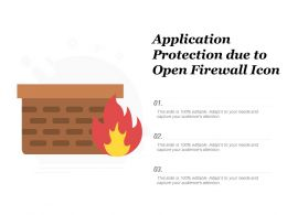 Application Protection Due To Open Firewall Icon
