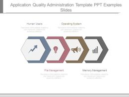 Application Quality Administration Template Ppt Examples Slides