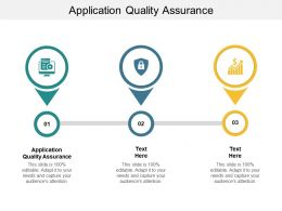 Application Quality Assurance Ppt Powerpoint Presentation Summary Graphics Pictures Cpb