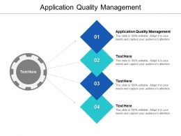 Application Quality Management Ppt Powerpoint Presentation Styles Graphics Example Cpb