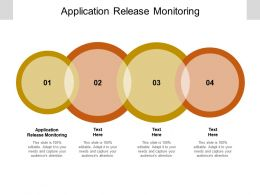 Application Release Monitoring Ppt Powerpoint Presentation Show Cpb