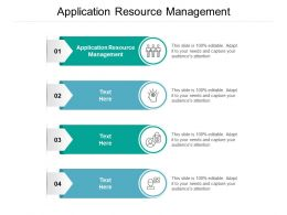 Application Resource Management Ppt Powerpoint Presentation Model Elements Cpb