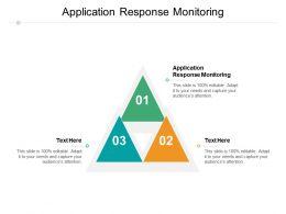 Application Response Monitoring Ppt Powerpoint Presentation Slides Ideas Cpb