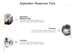 Application Response Time Ppt Powerpoint Presentation Professional Example Topics Cpb