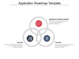 Application Roadmap Template Ppt Powerpoint Presentation Portfolio Examples Cpb