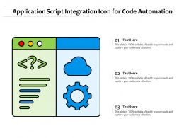 Application Script Integration Icon For Code Automation