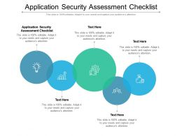 Application Security Assessment Checklist Ppt Powerpoint Presentation Visual Aids Deck Cpb