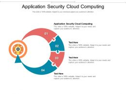 Application Security Cloud Computing Ppt Powerpoint Presentation Summary Sample Cpb