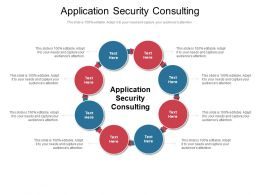 Application Security Consulting Ppt Powerpoint Presentation Inspiration Maker Cpb