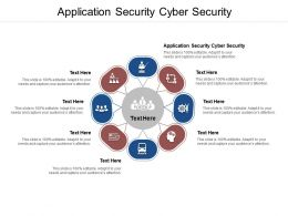 Application Security Cyber Security Ppt Powerpoint Presentation Icon Graphics Example Cpb
