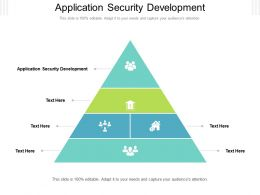 Application Security Development Ppt Powerpoint Presentation Summary Example File Cpb
