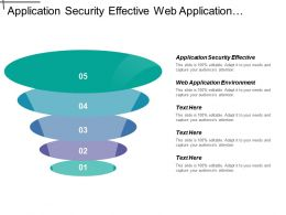 Application Security Effective Web Application Environment Strategic Planning
