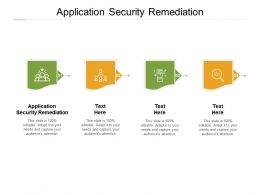 Application Security Remediation Ppt Powerpoint Presentation Styles Samples Cpb