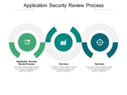 Application Security Review Process Ppt Powerpoint Presentation Icon Ideas Cpb