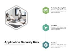 Application Security Risk Ppt Powerpoint Presentation Portfolio Maker Cpb