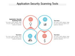 Application Security Scanning Tools Ppt Powerpoint Presentation Portfolio Information Cpb