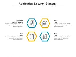 Application Security Strategy Ppt Powerpoint Presentation Samples Cpb