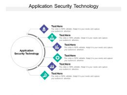 Application Security Technology Ppt Powerpoint Presentation Model Icon Cpb