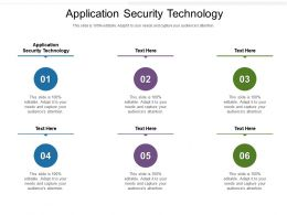 Application Security Technology Ppt Powerpoint Presentation Styles Graphic Images Cpb