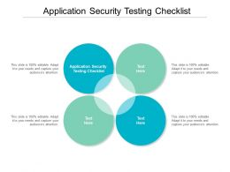 Application Security Testing Checklist Ppt Powerpoint Presentation Summary Slides Cpb