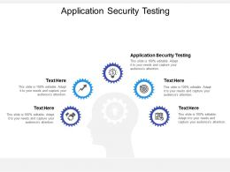 Application Security Testing Ppt Powerpoint Presentation Portfolio Outfit Cpb