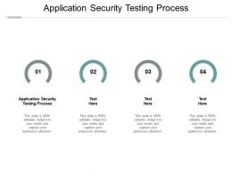 Application Security Testing Process Ppt Powerpoint Presentation Model Picture Cpb