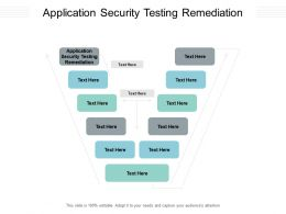 Application Security Testing Remediation Ppt Powerpoint Presentation Outline Ideas Cpb