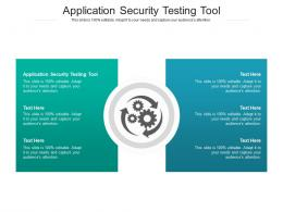 Application Security Testing Tool Ppt Powerpoint Presentation Slide Download Cpb