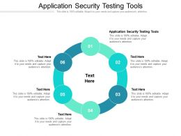 Application Security Testing Tools Ppt Powerpoint Presentation Show Guidelines Cpb