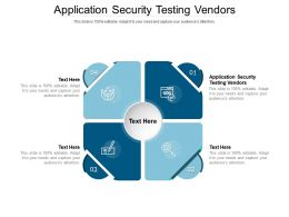 Application Security Testing Vendors Ppt Powerpoint Presentation Outline Show Cpb