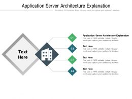 Application Server Architecture Explanation Ppt Powerpoint Presentation Model Visual Aids Cpb