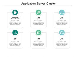 Application Server Cluster Ppt Powerpoint Presentation Professional Sample Cpb
