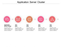 Application Server Cluster Ppt Powerpoint Presentation Show Tips Cpb