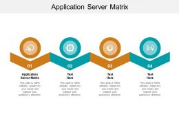 Application Server Matrix Ppt Powerpoint Presentation Styles Graphic Tips Cpb