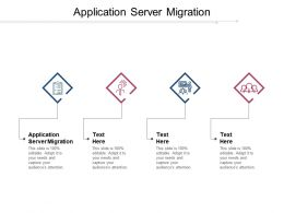 Application Server Migration Ppt Powerpoint Presentation Model Vector Cpb