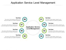 Application Service Level Management Ppt Powerpoint Presentation Styles Model Cpb