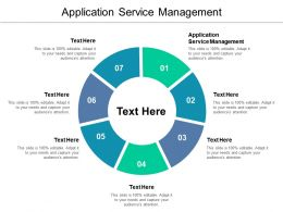 Application Service Management Ppt Powerpoint Presentation Gallery Aids Cpb