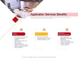 Application Services Benefits And Maintain Ppt Powerpoint Presentation Layouts Design