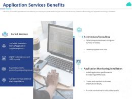 Application Services Benefits Ppt Powerpoint Presentation Infographic Template Elements
