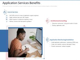 Application Services Benefits Runbook Template Ppt Powerpoint Presentation Pictures Slide