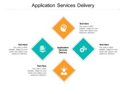 Application Services Delivery Ppt Powerpoint Presentation Professional Background Cpb