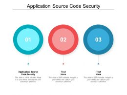 Application Source Code Security Ppt Powerpoint Presentation Ideas Deck Cpb