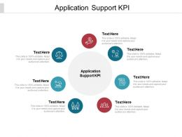 Application Support KPI Ppt Powerpoint Presentation Ideas Graphics Pictures Cpb