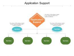 Application Support Ppt Powerpoint Presentation Slides Design Ideas Cpb