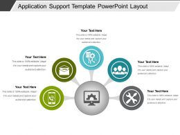 Application Support Template Powerpoint Layout