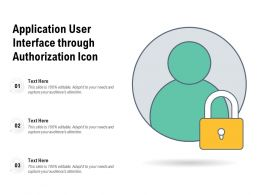 Application User Interface Through Authorization Icon