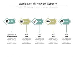 Application Vs Network Security Ppt Powerpoint Presentation Slides Background Images Cpb