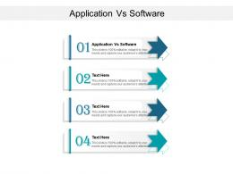 Application Vs Software Ppt Powerpoint Presentation Ideas Professional Cpb