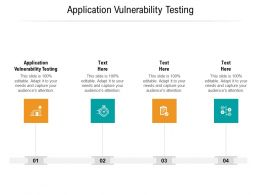 Application Vulnerability Testing Ppt Powerpoint Presentation Gallery Deck